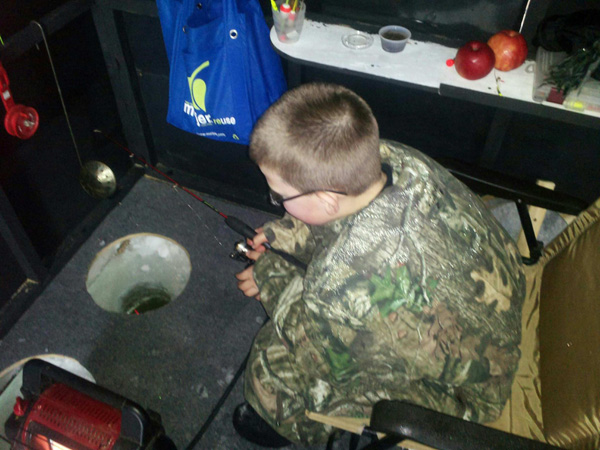 Ice Fishing with kids