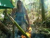Campfire at the Pathfinder Advanced Class in the Florida Everglades, Flachahatchee Strand, Florida, Everglade City, Florida