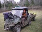 Yamaha Rhino gets me to a remote hunting camp, ten miles from a roadway.