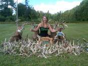 Some of my Antler Sheds.  i have found over two hundred.  For those of you who do not know; antlers are shed once a year.